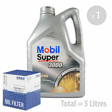 Engine Oil and Filter Service Kit 5 LITRES Mobil Super 3000 X1 5W-40 5L