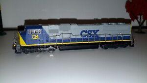 N Scale KATO 176-6308 * CSX SD70MAC * Diesel Locomotive Rd# 734 N Scale