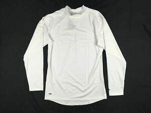 adidas Long Sleeve Shirt Men's White Climawarm Compression New Multiple Sizes