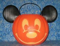 New Disney Halloween Mickey Mouse Face Jack O Lantern Trick or Treat Bucket Pail