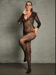 Ann Summers The Supreme Crotchless Bodystocking - Black - Sizes XS - XL