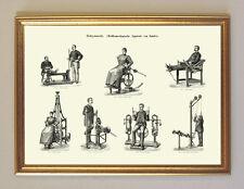Heilgymnastik Fitness Apparate Reha Zander Anatomie Medizin A3 14 Gerahmt