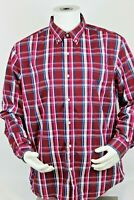 Chaps Plaid Easy Care Stretch Multicolor Button Down Shirt Mens Size XL