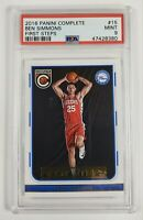 2016-17 Panini Complete FIRST STEPS Ben Simmons #15 - Rookie RC PSA 9
