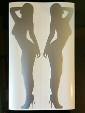 Mujeres Sexy coche calcomanía / etiqueta adhesiva X2