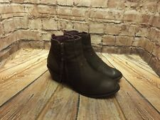 Womens Moshulu Brown Leather Zip Fastening Mid Heel Ankle Boots UK 6 EU 39