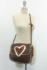 Handmade Deerskin Leather Bag JPLeather of Taos Santa Fe Brown w/Heart Trim