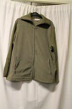 Ladies Olive Green Zip Front Fleece Top UK Size 16   (RJ504)