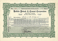 New York 1916, Buffalo Potash & Cement Corporation Stock Certificate