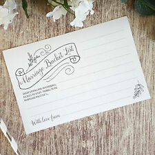 Wedding Advice Cards ◦ Pk of 10 ◦ Guest Book Alternative ◦ Wedding Table Game