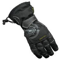 Gmac Pilot Hipora Waterproof Cordura Leather Motorcycle Gloves Black SALE