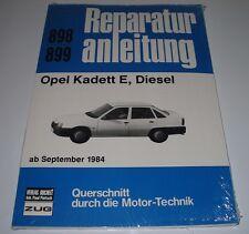 Reparaturanleitung Opel Kadett E Diesel ab Baujahr September 1984 NEU Bucheli!