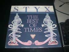 SINGLE STYX - THE BEST OF TIMES - A&M EUROPE 1981 VG+