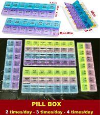 Pill Box Medicine Organizer Dispenser  Box Case Container Storage Holder Weekly