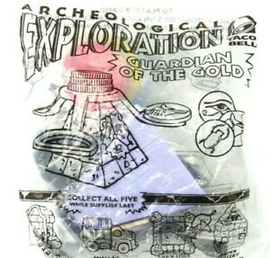 RARE Taco Bell 2001 Archaeological Exploration Guardian Of The Gold KID MEAL TOY