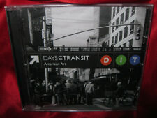 Extremely Rare DAYS IN TRANSIT DIT American Art CD 2012 NEW & FACTORY SEALED OOP