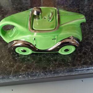 1930s Saddlers Racing Car Teapot .