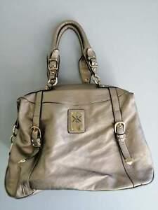 KARDASHIAN KOLLECTION Grey metalic handbag