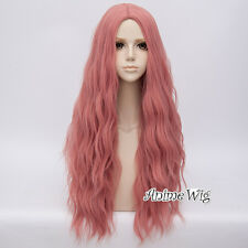 Hitzebeständige 28 Farben Party Ombre 78cm Curly Lang Gothic Cosplay Perücke Wig