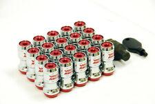 Rays Formula Wheel Lug Nuts M12X1.50 Thread Red 20PC Set