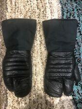 Rare Vintage CASTRE 3-Finger Snowmobile Ski Gloves / Mittens Size Large