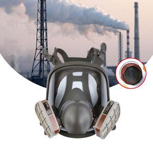 15 in 1 Staubmaske Gasmaske Lackiermaske Atemschutz Vollmasken mit 2 Filter 6800