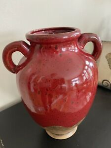 Southern Living at Home Dark Red Tuscan Olive Jar/VaseRetired Beautiful!