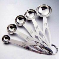 Stainless Steel/Plastic Measuring Baking Spoons Cooking Cups Teaspoons Utensil