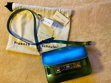Proenza Schouler ps11 Mirrored Mini Blue Leather Shoulder Bag with Dust Bag