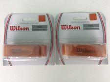New Wilson Leather replacement grips, premium tennis,squash,badmitton,L t brn2 pk