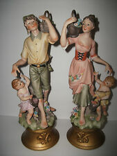 ANTIQUE/VINTAGE LENWILE ARDALT BISQUE PORCELAIN MAN AND WOMAN WITH CHILDREN