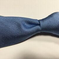Carrot & Gibbs Sky Blue Textured  Ribbed Twill 100% Silk Tie Made USA
