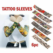 Halloween 6pcs Tattoo Cooling Arm Costume Sleeves Cover Basketball Golf Sport Uv
