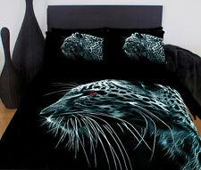 Leopard Print Duvet | Doona Quilt Cover Set | Black Leopard | Big Cats | Queen