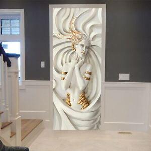 New 3D Relief Characters Door Wall Sticker Decals Self Adhesive Mural Home Deco