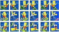 THE SIMPSONS Scrapbook Stickers 3 Sheets Hallmark Bart Homer Skateboard