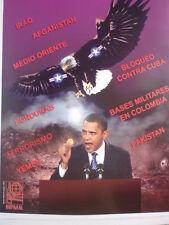 Cuban Anti Barack Obama Propaganda Poster / Cuba Graphic Ridicules U.S President