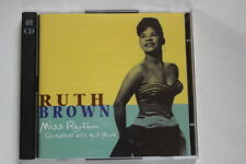 """Ruth Brown  """"miss rhythm,  greatest hits and more"""" 2 CD's"""