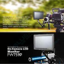 "Feelworld FW759 7"" IPS HD 1080p DSLR Camera Field Video Monitor Peaking Focus"