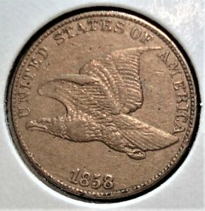 1858 Flying Eagle Cent Nice