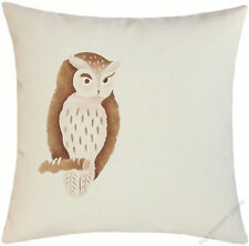 Natural Brown Owl On A Limb decorative throw pillow cover/cushion cover 18x18""