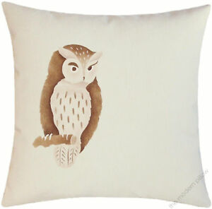 """Natural Brown Owl On A Limb decorative throw pillow cover/cushion cover 18x18"""""""