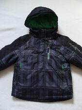 NWT Boys Zero XPosur Winter Jacket Sz 4 Fleece Hood Ski 3-in-1 Coat Gray Parka