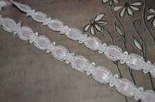 LACE INSERTION  WINTER  WHITE VENISE  3YDS SEWING EMBELLISHMENTS CRAFT