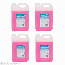 4 x 5 LITRES of QTX HIGH DENSITY HIGH QUALITY FOG SMOKE MACHINE FLUID 160.583