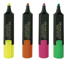 Faber-Castell Highlighter x 4 Textliner 1548 Refillable Lot of 4 pcs Multi-Color