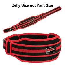 "MRX Weight Lifting Training Belts Gym Back Support Belt 5"" Wide Red, XL"