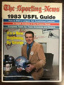 THE SPORTING NEWS 1983 USFL GUIDE FOOTBALL PROGRAM VERY GOOD CONDITION