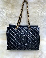 Chanel Rare Vintage 1996 Jumbo XXL Maxi Grand Shopping Tote GST Bag W/Double CC