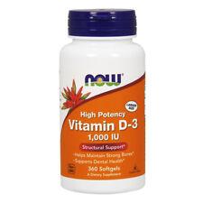 NOW FOODS  Vitamin D-3 1,000 IU 360 Softgels - vitamina D